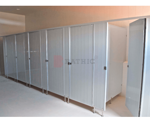 BATHIC ผนังห้องน้ำพีวีซี แผงพาร์ทิชั่น 10x185ซม. PT ขาว