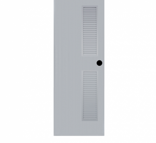 BATHIC ประตูพีวีซี ขนาด 80x180ซม. (เจาะรูลูกบิด) BC6 สีเทา