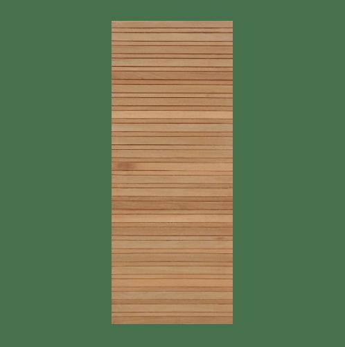MAZTERDOOR ประตูไม้สยาแดง บานทึบทำร่องแนวนอน ขนาด 80x200ซม.   NM-08
