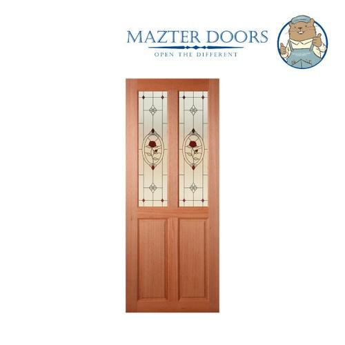 MAZTERDOOR ประตูไม้สยาแดง ขนาด 80x200 cm. SS-02/3