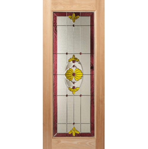 MAZTERDOOR ประตูไม้นาตาเซีย ขนาด  90x200 ซม.  Lotus-05