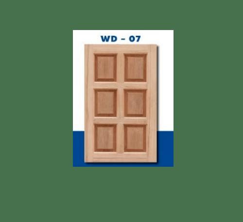 MAZTERDOOR บานหน้าต่างไม้สยาแดง ขนาด 50x100 ซม. WD-07