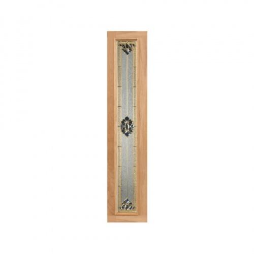 MAZTERDOOR ประตูกระจกไม้นาตาเซีย ขนาด  35x245 cm.  Jasmine-05 (upper-side)
