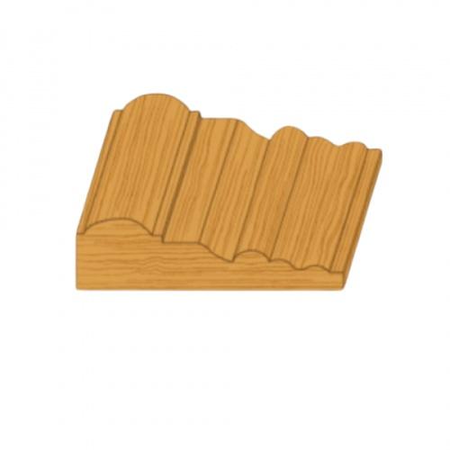 MAZTERDOOR ไม้เปอร์เซีย บัวซับวงกบ ขนาด 1นิ้ว x4นิ้ว x3.0 cm M.1503