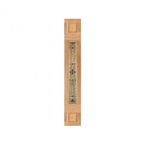 MAZTERDOOR ประตูไม้สยาแดงกระจก upper-side ขนาด 40x245cm. Jasmine06