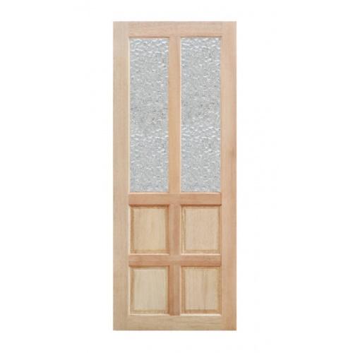 MAZTERDOOR  ประตูไม้เนื้อแข็งพร้อมช่องกระจกลายน้ำ  ขนาด 100x200ซม. MD-06/2
