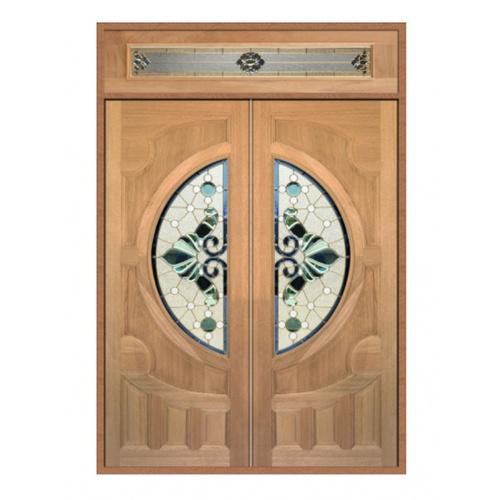 MAZTERDOOR ชุดประตูไม้เนื้อแข็ง ขนาด  200x240ซม.   SET2 Vanda-08