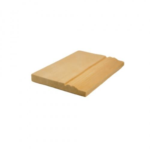 MAZTERDOOR บัวพื้น-ไม้สัก ขนาด 1/2นิ้ว x4นิ้ว x10.5 ฟุต M.1406.1(พื้น2ตุ่ม)