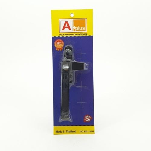 A-Plus มือจับบานกระทุ้ง (ไม่มีรู) L สีดำ