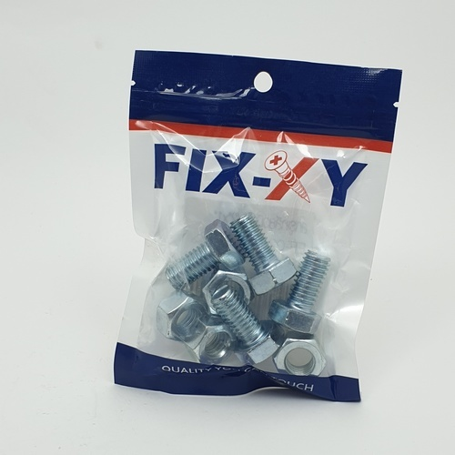 FIX-XY สกรูเกลียวมิล 1/2x1  (4ชิ้น/แพ็ค)  EF-021 สีโครเมี่ยม