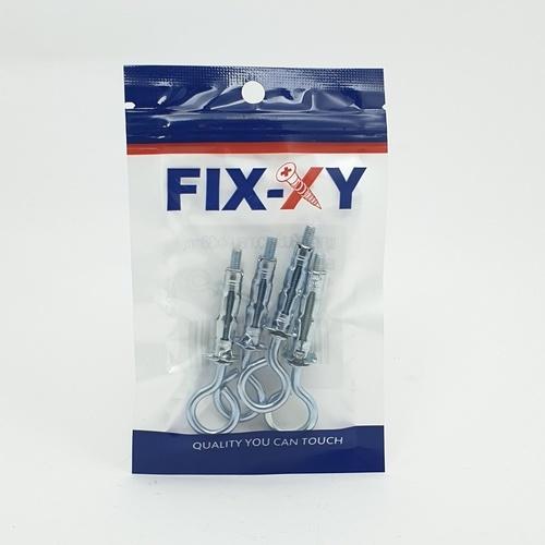 FIX-XY พุกเหล็กยิบซั่มห่วงกลม 4x38mm. EO-004