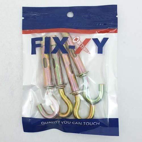 FIX-XY พุกตะขอเหล็ก M8 (4ชิ้น/แพ็ค) EH-014