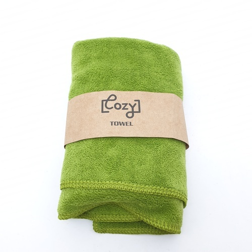 COZY ผ้าขนหนูไมโครไฟเบอร์ 30x70ซม. BQ015-OLI  สีเขียว