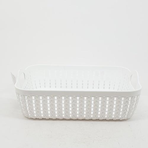 GOME ตะกร้าพลาสติกเล็กเหลี่ยม ขนาด 20x26.5x8.5ซม. EY008-WH  สีขาว