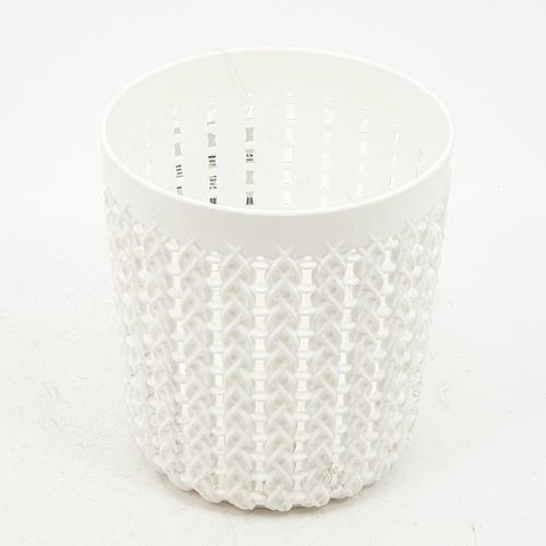 GOME ตะกร้าพลาสติกกลม ขนาด 10x10x11ซม. EY011-WH สีขาว