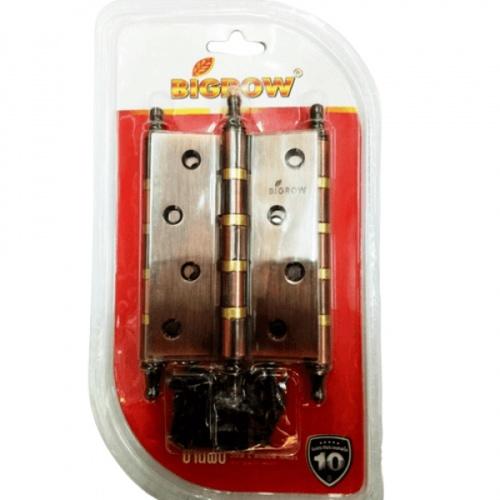 BIGROW บานพับ 4x3x2 4BB ACแกนเล็ก หัวจุก แพ็ค 3
