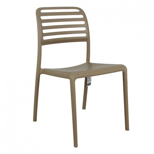 Pulito เก้าอี้พลาสติก  ขนาด 57x48.7x86ซม.  PP-695-2-GR03  สีเบจ