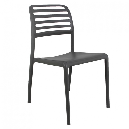 Pulito เก้าอี้พลาสติก  ขนาด 57x48.7x86ซม. สีเทาเข้ม