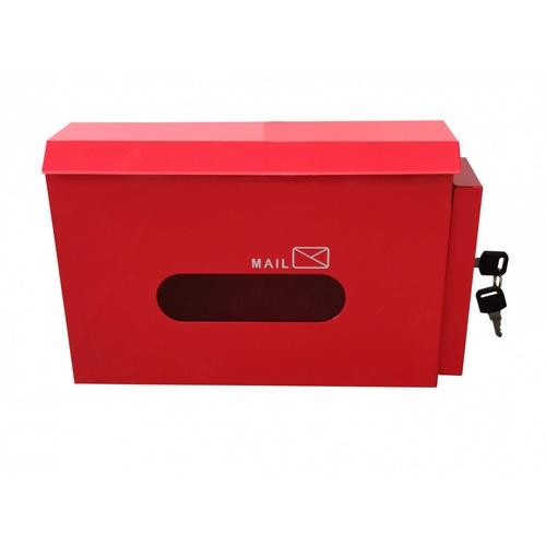 PROTX ตู้จดหมายเหล็ก พร้อมกุญแจ ขนาด 30x19x10 ซม. HF300 สีแดง