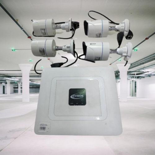 EVISION กล้องวงจรปิด NVK-4004(1TB HDD) สีขาว