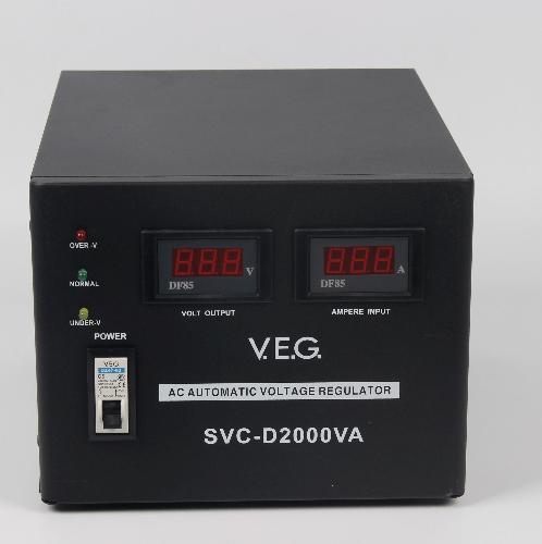 V.E.G เครื่องรักษาระดับแรงดันไฟฟ้า AVR  SVC-D2000VA สีดำ
