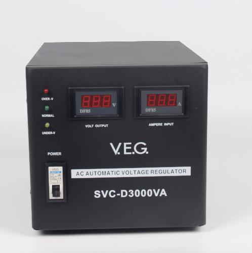 V.E.G เครื่องรักษาระดับแรงดันไฟฟ้า AVR SVC-D3000VA สีดำ