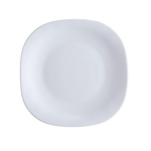 ADAMAS จานโอปอลทรงเหลี่ยม ขนาด 11 นิ้ว FQP110 สีขาว