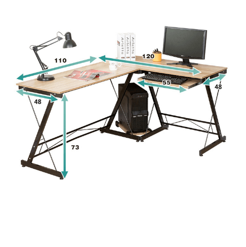 SMITH โต๊ะทำงาน  ขนาด 120X158X73ซม. HD001 สีไวท์เมเปิล