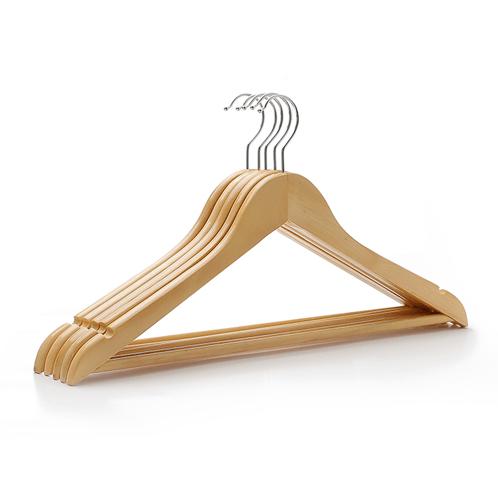 SAKU ไม้แขวนเสื้อไม้ ขนาด 44.5×1.2×23ซม. บรรจุ 5ชิ้น/แพ็ค AY05 สีไม้