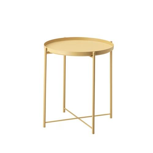 Delicato โต๊ะวางถาดพับได้ ขนาด 47.5x53ซม.  VV03 สีเหลือง