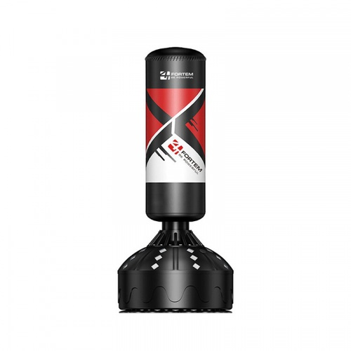 FORTEM เป้าชกมวยตั้งพื้น ขนาด 30x63x180ซม. AB-006 สีดำ-แดง