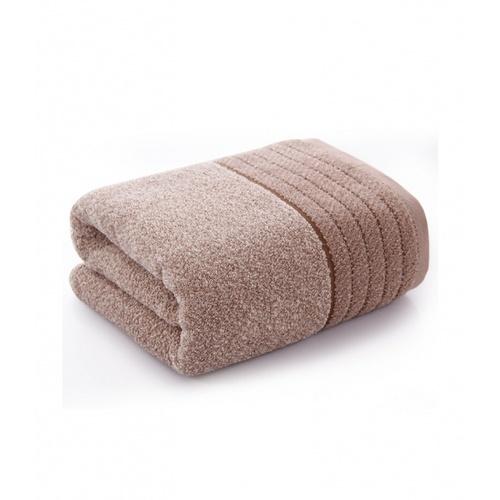 COZY ผ้าเช็ดตัว ขนาด 70×140×0.4ซม. LY18 สีน้ำตาล