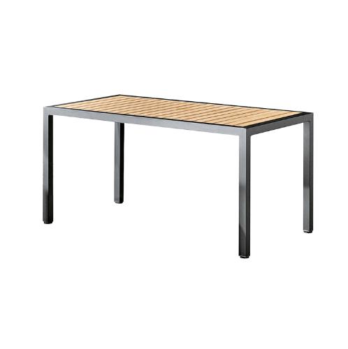 Delicato โต๊ะสนาม 4 ที่นั่ง ขนาด 80×150×77ซม. HB13 สีไม้