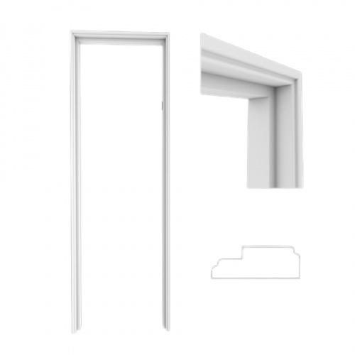 WELLINGTAN วงกบประตู ขนาด  70x200ซม.  WPC WPCDF-4-1 สีขาว