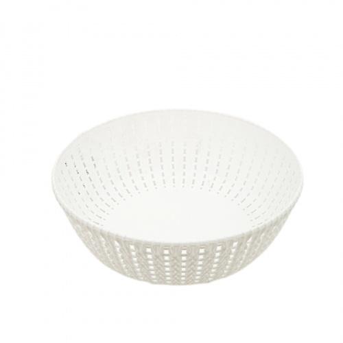 GOME ตะกร้าพลาสติกเล็กกลม ขนาด 22x22x7.5ซม. EY012-WH สีขาว