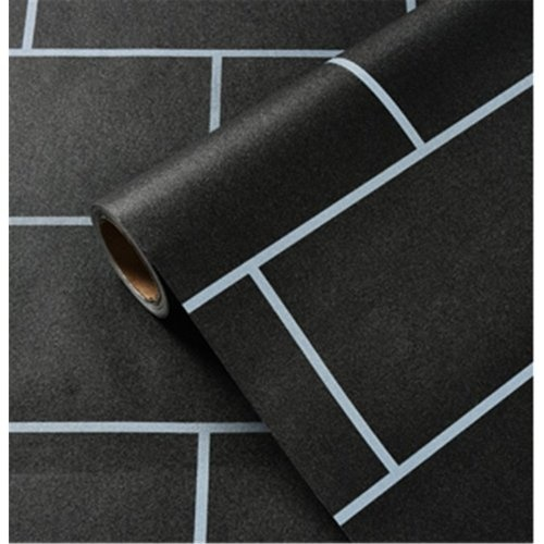 TAPIO วอลเปเปอร์ 45x1000cm ลาย Brick BYD019 สีดำ