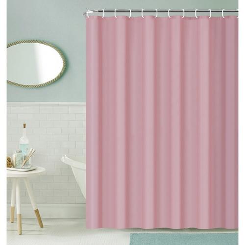 Primo ผ้าม่านห้องน้ำ PEVA ขนาด 180x180 ซม.  EDJJ08-PK สีชมพู