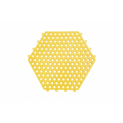 Primo แผ่นกันลื่น PVC ขนาด 30×30 ซม. (6แผ่น/แพ็ค) Hexagon BPY029-YE สีเหลือง