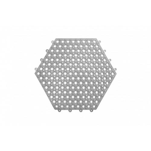 Primo แผ่นกันลื่น PVC ขนาด 30×30 ซม.  (6แผ่น/แพ็ค) Hexagon BPY029-GY  สีเทา