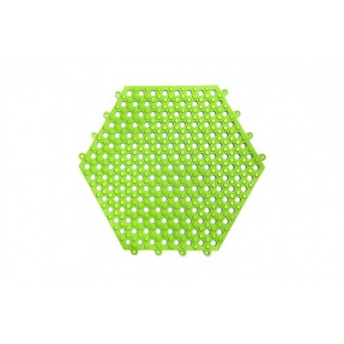 Primo แผ่นกันลื่น PVC  ขนาด 30×30 ซม. (6แผ่น/แพ็ค) Hexagon สีเขียว