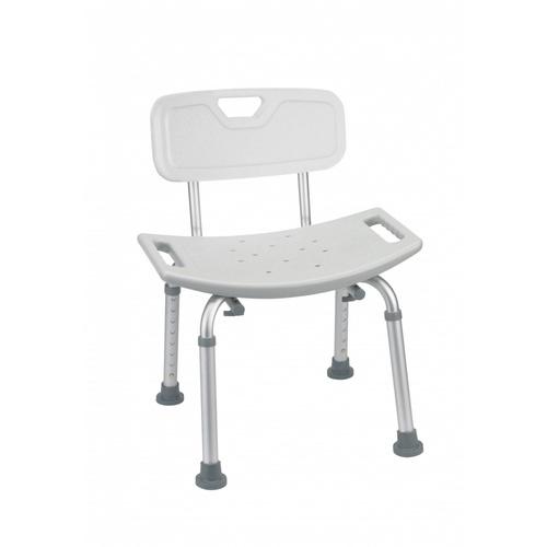 VERNO เก้าอี้อาบน้ำ มีพนักพิง ขนาด 50x41x75 ซม.  6KM006  สีขาว