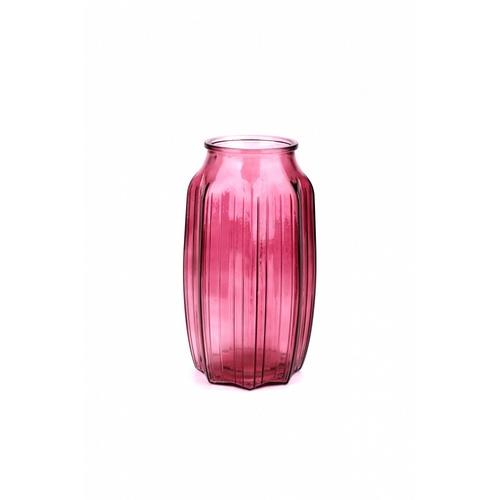 COZY แจกันแก้ว ขนาด 10x22.5 ซม. Faris-P สีม่วง