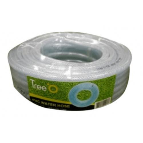 Tree O สายยางม้วน PVC ใยแก้ว ขนาด 5/8นิ้ว ยาว 20M  WP-16-23 สีขาว