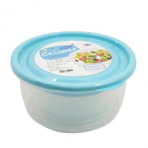GOME กล่องอาหารพลาสติกทรงกลม SP0025-BU 350ML+650ML+1100ML สีฟ้า