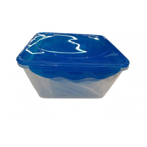 GOME ชุดกล่องถนอมอาหารพลาสติกทรงเหลี่ยม  EYYZ40 570ML/1200ML/2150ML 3 ชิ้น/แพ็ค  สีฟ้า