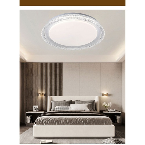 EILON โคมไฟเพดาน LED  ปรับแสงได้  ขนาด  36W  Gela-530  (พร้อมรีโมท) สีขาว