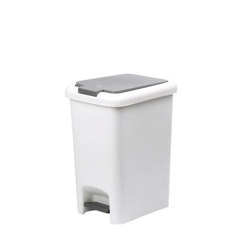 ICLEAN ถังขยะเหยียบ ทรงเหลี่ยม 20 ลิตร  TG51790 สีขาว