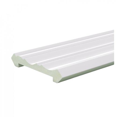 GREAT WOOD ไม้บัวบน PVC FCR-0804A 80x13x2700mm. WH05