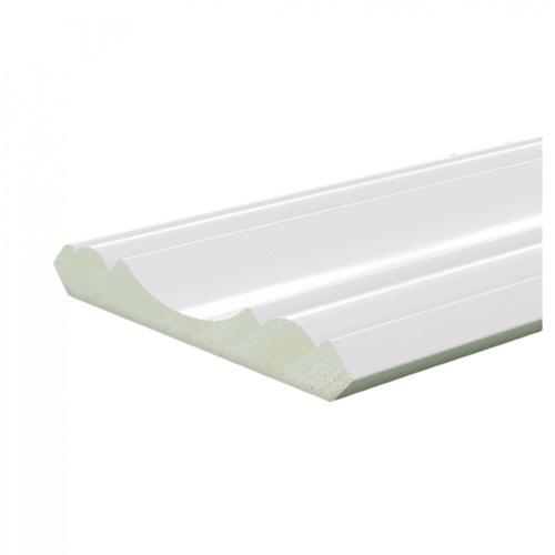 GREAT WOOD ไม้บัวบน PVC  FCR-1004A 100x13x2700mm. WH05