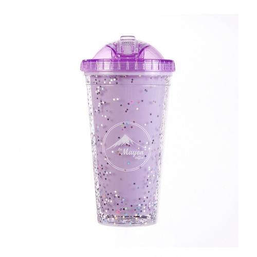 LAMAYON  แก้วน้ำแข็งพลาสติก Shiny ขนาด  550ML CP12 สีม่วง
